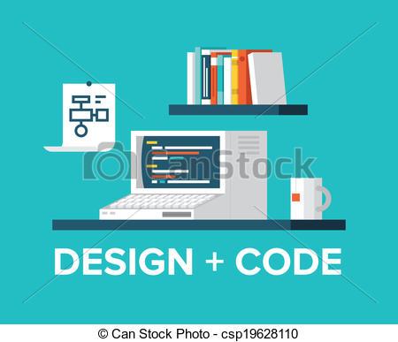 Coding clipart Web programming computer and programming