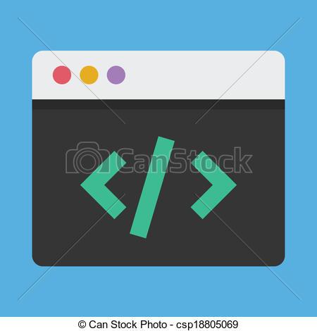 Coding clipart Clipart  Icon Coding Vector