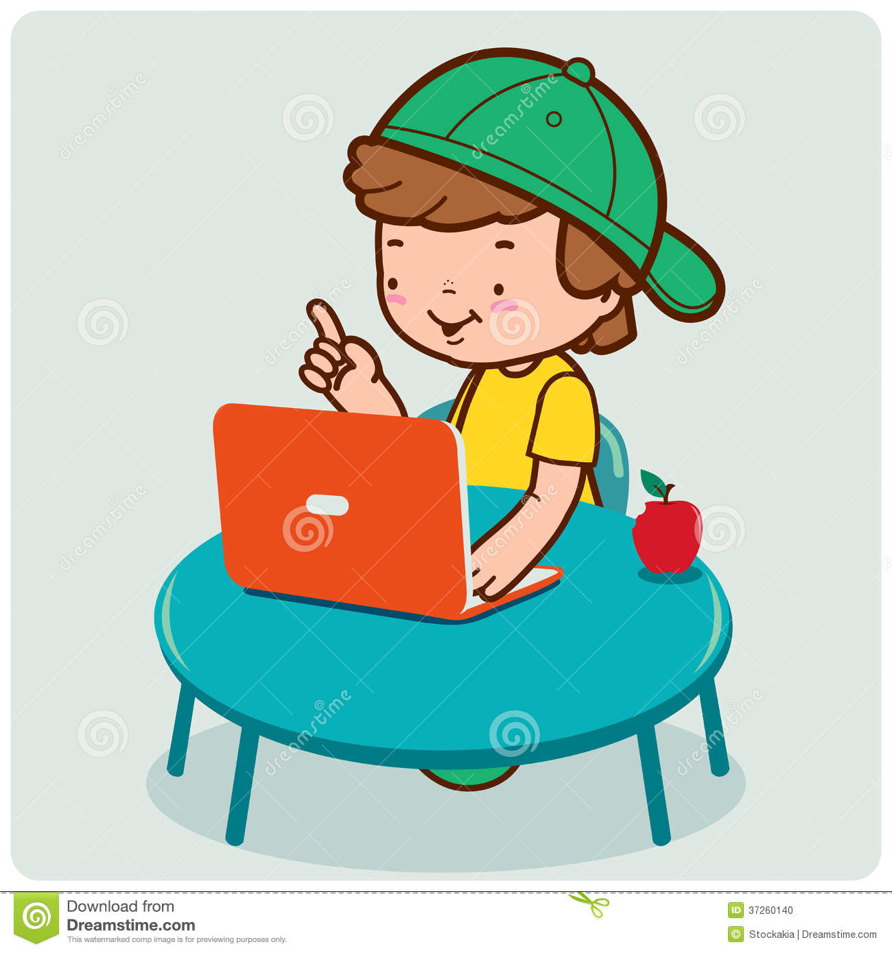 Code clipart computer maintenance Boy Using Students The Stock
