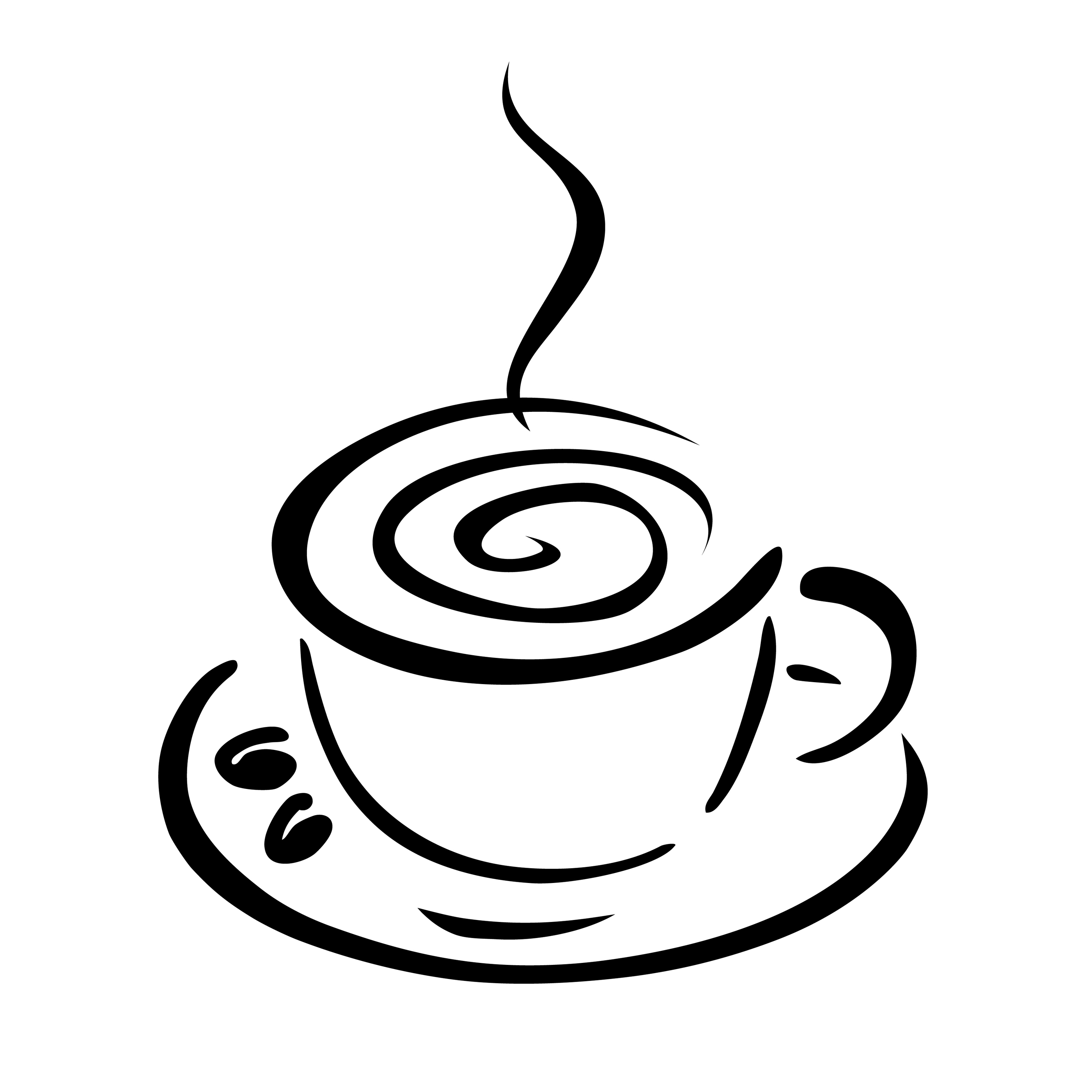 Cappuccino clipart black and white White 4 coffee Clipart clipart