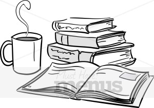 Bobook clipart coffee and Books Coffee Clipart Clipart and