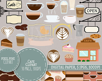 Coffee clipart bistro PNGs Cafe Cafe Set clipart