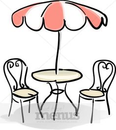 Coffee clipart bistro Art fresco Table Cafe french