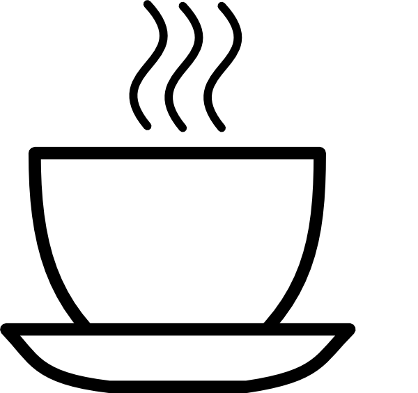 Coffee clipart black and white And Black Image Clipart Clipart