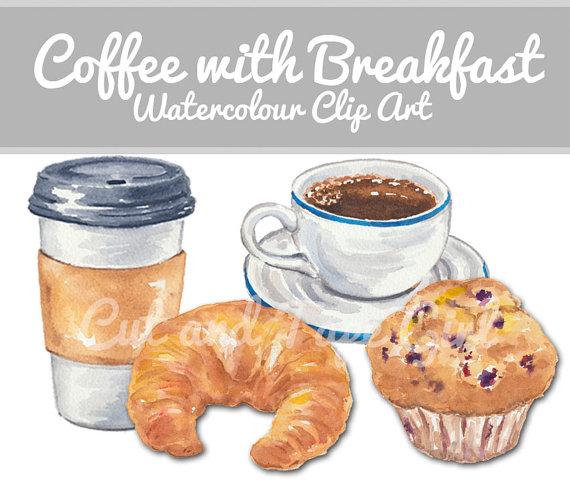 Coffee clipart breakfast Etsy Clipart Coffee Art Digital