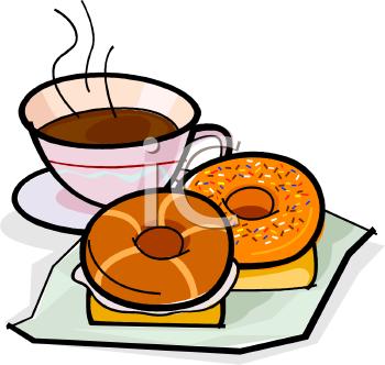 Coffee clipart breakfast Bagels Clipart Clipart Breakfast Bagels