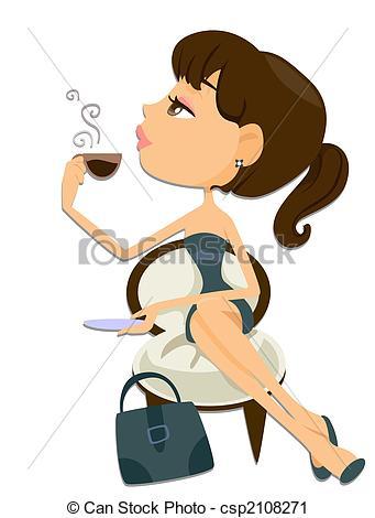 Coffee clipart coffee break Break csp2108271 Search Woman Break