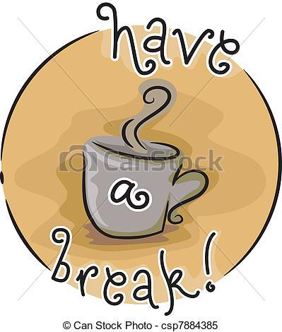Coffee clipart coffee break Illustration csp7884385 a Break Coffee