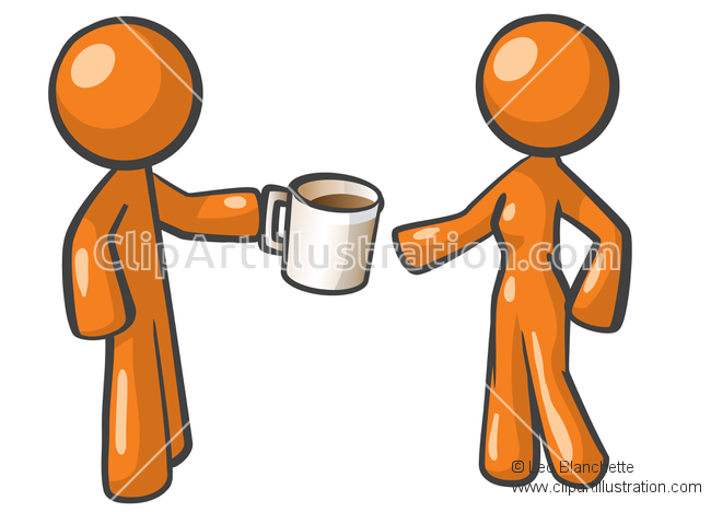 Coffee clipart coffee break Man of Break clip of