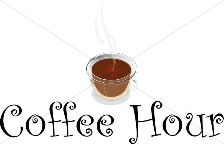Coffee clipart coffee hour Art Announcement Announcement Hour Refreshments