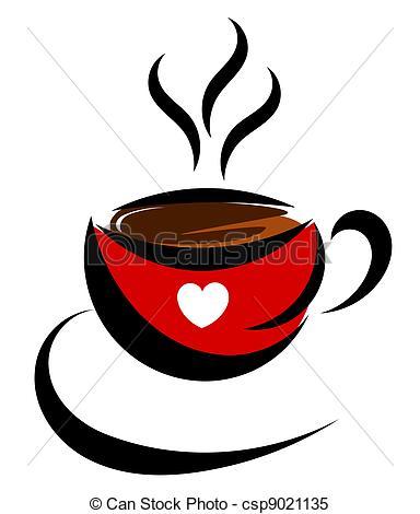 Cappuccino clipart coffee love Cup love Love Clipart vector