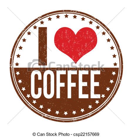Coffee clipart coffee love Art I love stamp grunge