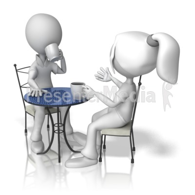 Coffee clipart coffee meeting Stick Table Talk Coffee Figure