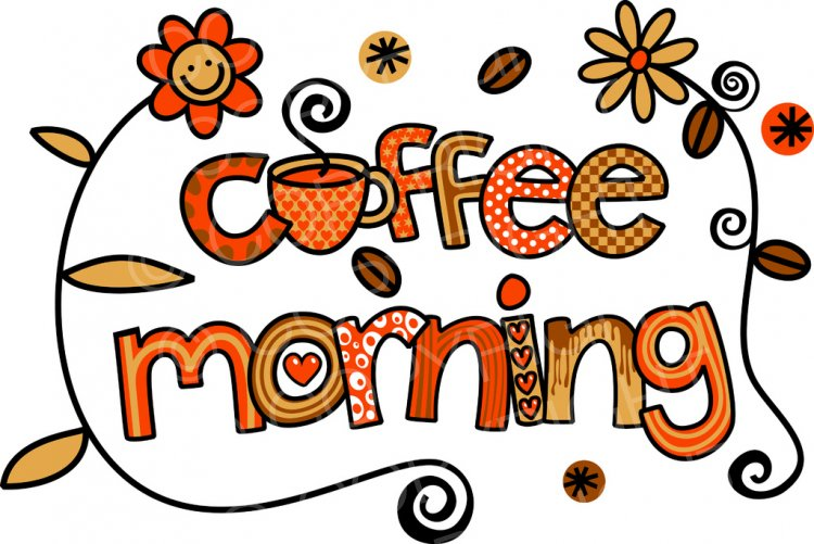 Coffee clipart coffee morning Coffee Text Clipart Doodle Art