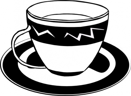 Cappuccino clipart black and white Art Free Clipart Panda Clipart