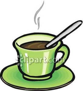 Coffee clipart cup saucer Saucer Clipart Green Royalty Green