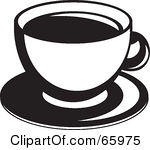 Coffee clipart cup saucer White cup Cup black Coffee