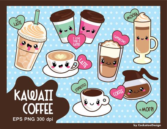 Coffee clipart cute Kawaii coffee clip art clip