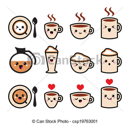 Coffee clipart cute Cute cup clipart of Vector