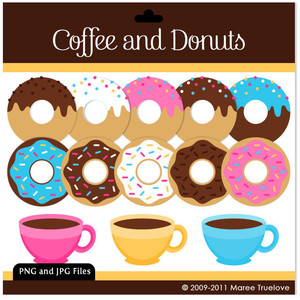 Coffee clipart digital Clip or Clipart and Coffee