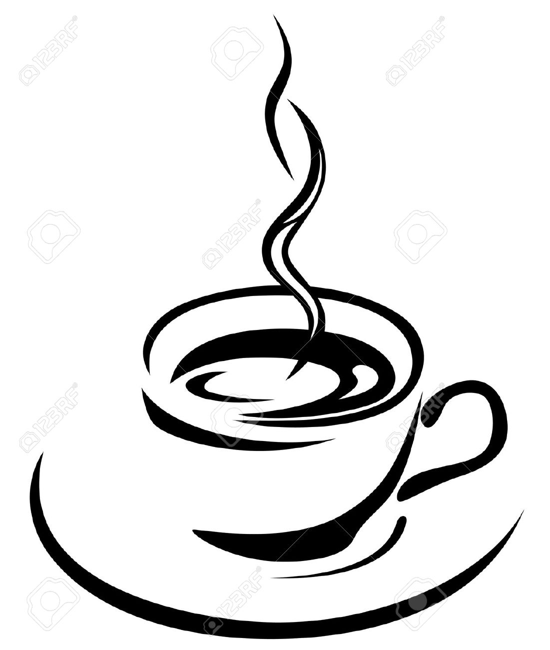 Coffee clipart drawn cup  Search Leaf a a