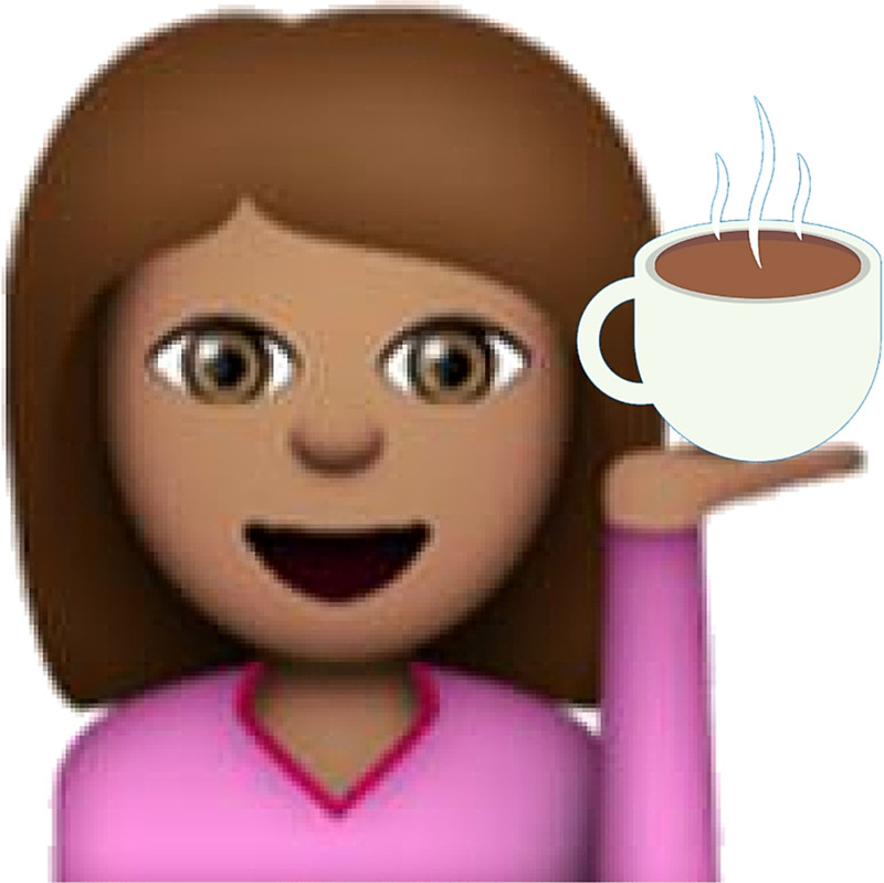 Coffee clipart emoji Hair Brown Emoji: Redbubble