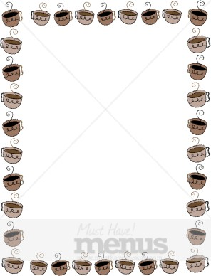 Coffee clipart frame Frame Cups Frame Cute Coffee