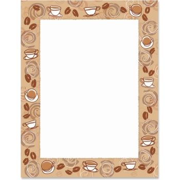 Coffee clipart frame Papers Border Pinterest Paper 89