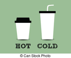 Coffee clipart hot and cold Illustration Cold EPS Cold Coffee