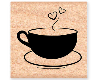 Hot Chocolate clipart hot cup tea Chocolate CUPS Hot Stamp~two swirls~cup
