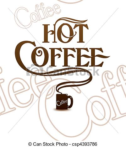 Coffee clipart hot coffee Tile Art Tile Over white