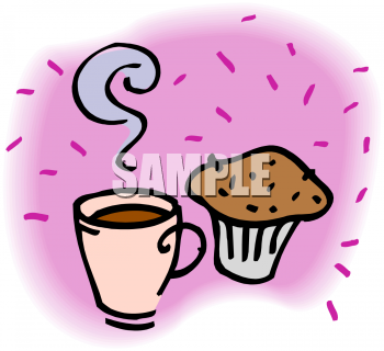 Coffee clipart muffin Bran a Muffin with Coffee