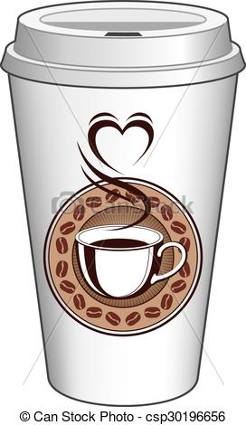 Coffee clipart on go Heart With Cup of With