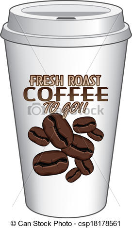 Coffee clipart on go Csp18178561 Fresh Cup of Fresh
