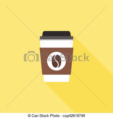 Coffee clipart plastic glass Or long icon of Vector