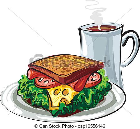Coffee clipart sandwich Clip sandwich and EPS Vector