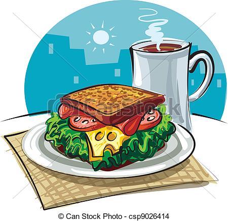 Coffee clipart sandwich  coffee EPS of sandwich