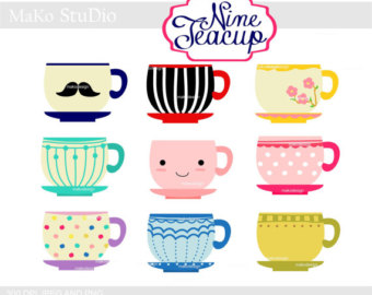 Coffee clipart teacup Clipart or Cup cups Etsy