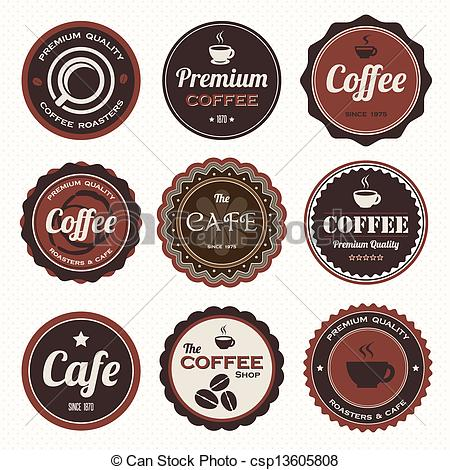Coffee clipart vintage coffee Vector badges Set coffee of