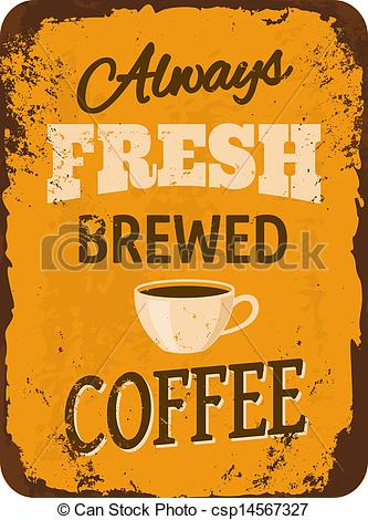 Coffee clipart vintage coffee Illustration Sign  Coffee Coffee