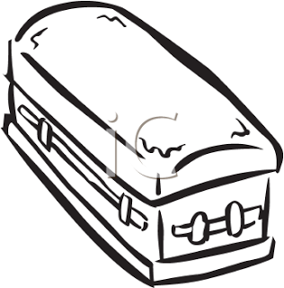 Coffin clipart black and white First THE A Coffin WITH
