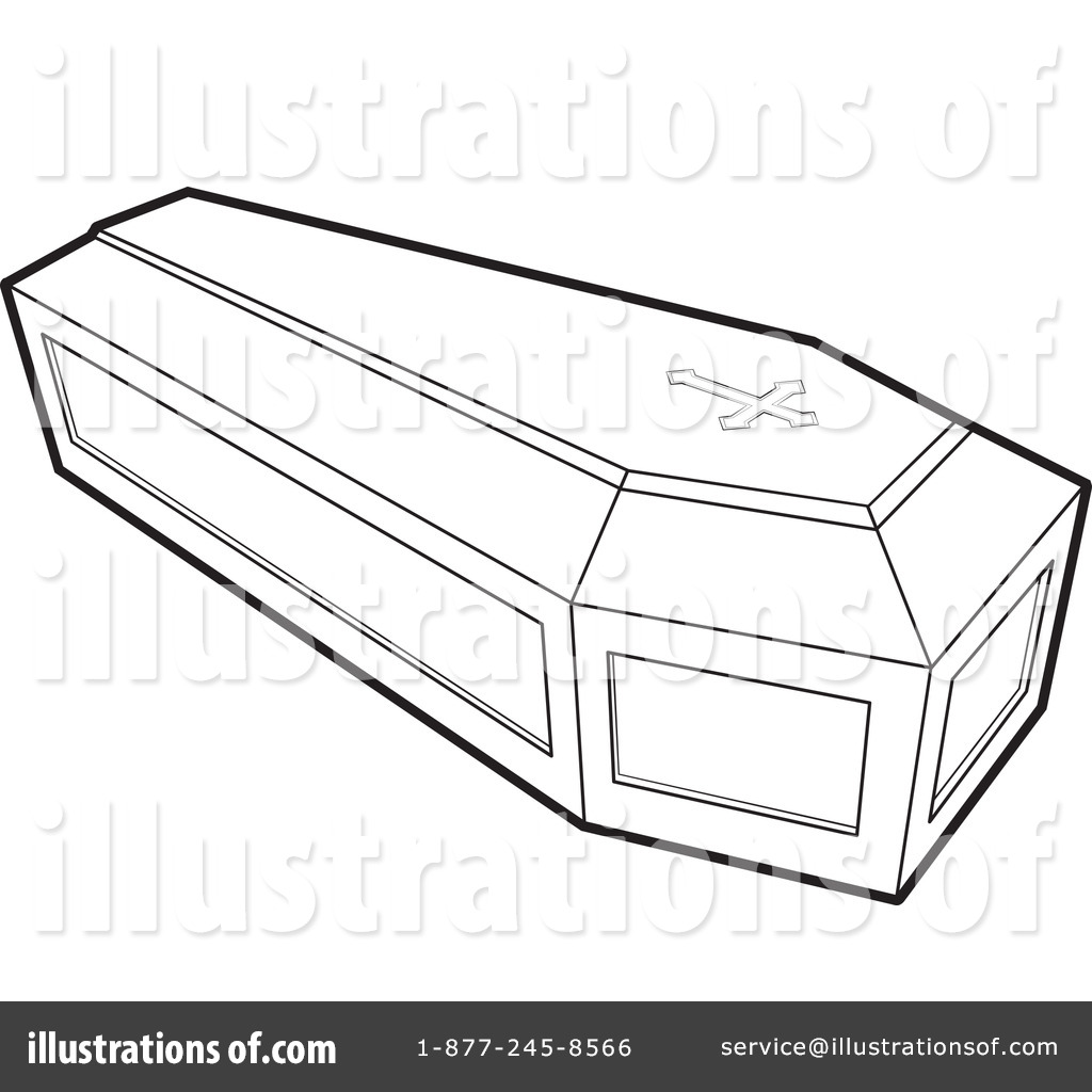 Coffin clipart black and white By Illustration Lal #1054589 by