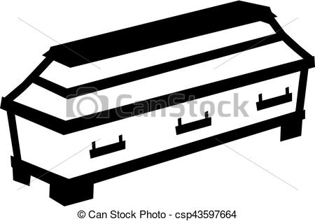 Coffin clipart black and white Images art and Casket Stock