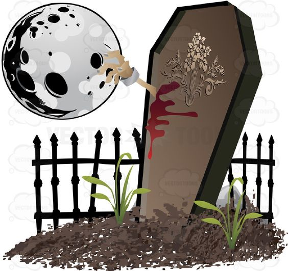 Coffin clipart death Scene An of Moon Smashes