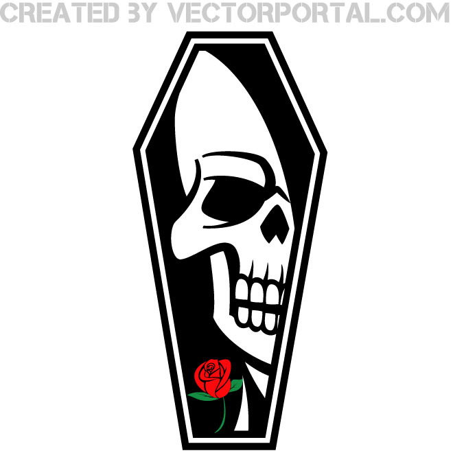 Coffin clipart graveyard Vectorportal COFFIN IMAGE COFFIN final