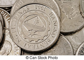 Coin clipart 1 peso Close of peso Photos and