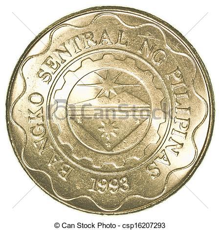 Coin clipart 1 peso 5 coin white 5 Philippine