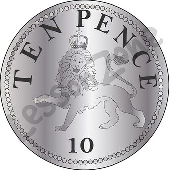 Coin clipart 20p Pence United Lesson Zone 10p
