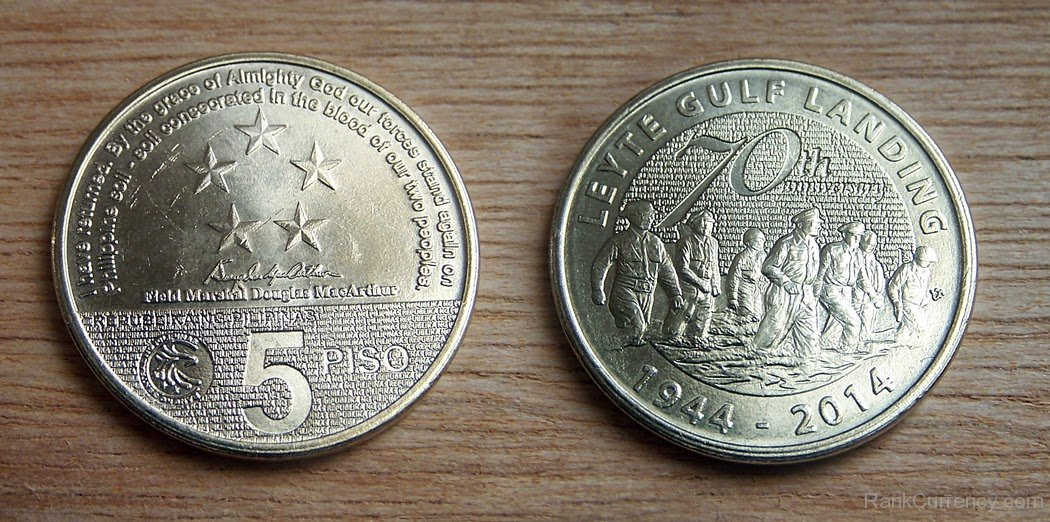 Coin clipart 5 peso 5 Of 1944 Coin Philippines