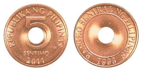 Coin clipart 5 peso Sentimo Search